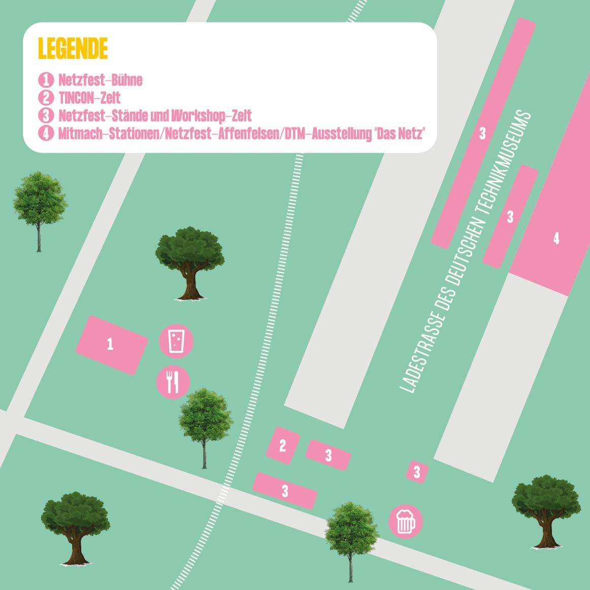 Netzfest Lageplan